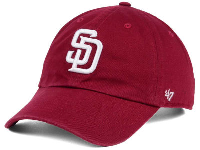 San Diego Padres '47 MLB Cardinal and White '47 CLEAN UP Cap