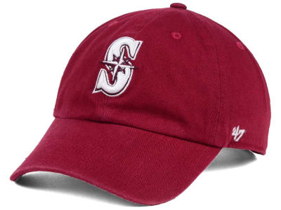 Seattle Mariners MLB Cardinal and White '47 CLEAN UP Cap