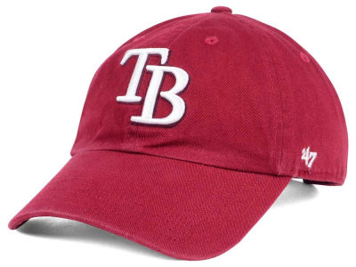 Tampa Bay Rays '47 MLB Cardinal and White '47 CLEAN UP Cap