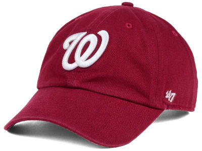Washington Nationals '47 MLB Cardinal and White '47 CLEAN UP Cap