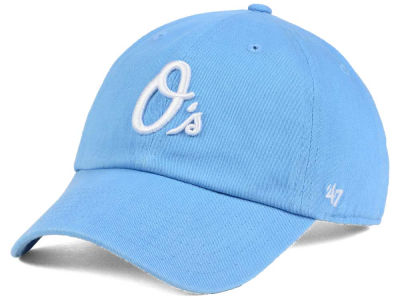 Baltimore Orioles '47 MLB Women's Powder Blue/White '47 CLEAN UP Cap