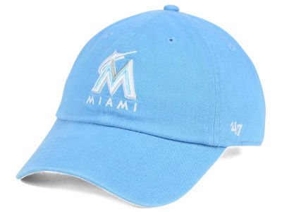 Miami Marlins '47 MLB Women's Powder Blue/White '47 CLEAN UP Cap