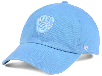 Milwaukee Brewers '47 MLB Women's Powder Blue/White '47 CLEAN UP Cap