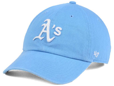 Oakland Athletics '47 MLB Women's Powder Blue/White '47 CLEAN UP Cap
