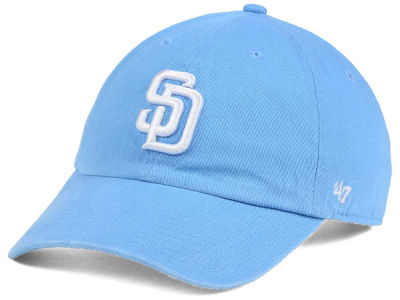 San Diego Padres '47 MLB Women's Powder Blue/White '47 CLEAN UP Cap