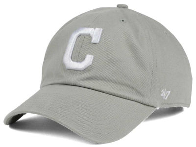 Cleveland Indians '47 MLB Gray White '47 CLEAN UP Cap