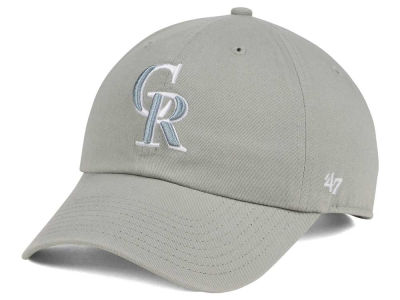Colorado Rockies '47 MLB Gray White '47 CLEAN UP Cap