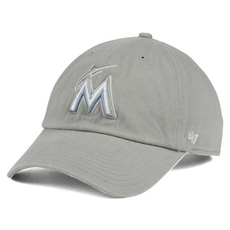 Miami Marlins '47 MLB Gray White '47 CLEAN UP Cap