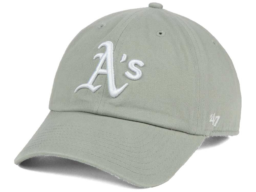 watch ef857 49d03 ... low price oakland athletics 47 mlb gray white 47 clean up cap 9465d  7045c