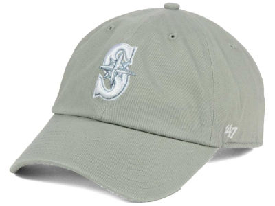 Seattle Mariners MLB Gray White '47 CLEAN UP Cap