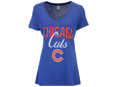 Chicago Cubs MLB Women's Script Marled T-Shirt