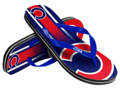 Chicago Cubs 10 Deep Gradient Big Logo Unisex Flip Flop