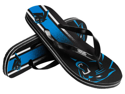 Carolina Panthers 10 Deep Gradient Big Logo Unisex Flip Flop