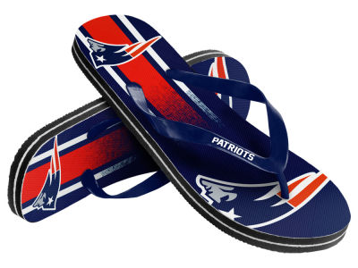 New England Patriots 10 Deep Gradient Big Logo Unisex Flip Flop