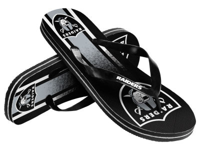 Oakland Raiders Gradient Big Logo Unisex Flip Flop