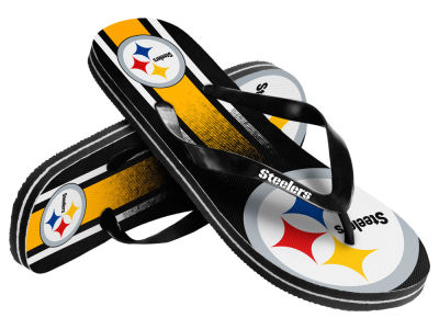 Pittsburgh Steelers Gradient Big Logo Unisex Flip Flop