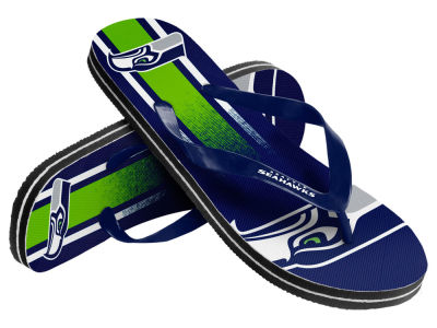 Seattle Seahawks Gradient Big Logo Unisex Flip Flop