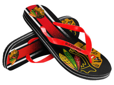 Chicago Blackhawks Gradient Big Logo Unisex Flip Flop