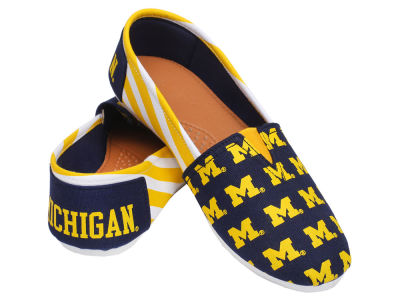 Michigan Wolverines Canvas Logo Shoe