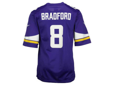 Minnesota Vikings Sam Bradford Nike NFL Youth Game Jersey