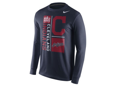Cleveland Indians Nike MLB Men's World Series Bound Mascot Long Sleeve T-Shirt