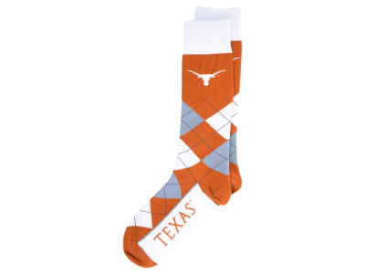 Texas Longhorns For Bare Feet Argyle Dress Socks