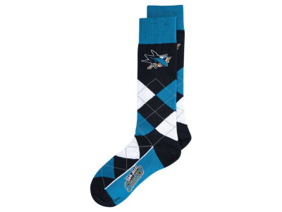 San Jose Sharks For Bare Feet Argyle Dress Socks