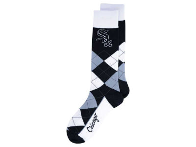 Chicago White Sox For Bare Feet Argyle Dress Socks