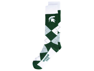 Michigan State Spartans For Bare Feet Argyle Dress Socks
