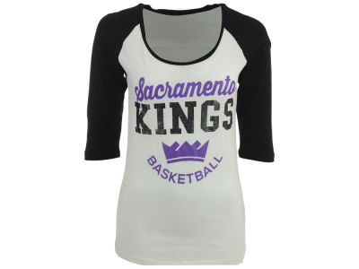 Sacramento Kings 5th & Ocean NBA Women's Side Zone Raglan T-Shirt