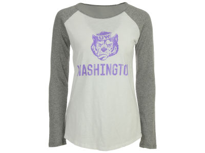 Washington Huskies Retro Brand NCAA Women's Slub Raglan T-Shirt