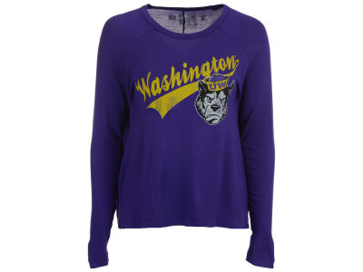 Washington Huskies Retro Brand NCAA Women's Vintage Long Sleeve T-Shirt
