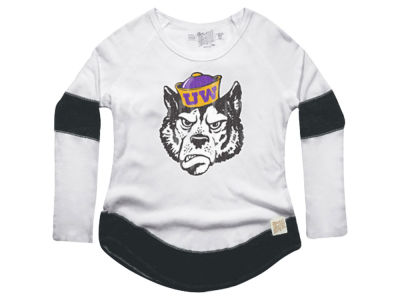 Washington Huskies Retro Brand NCAA Women's Thermal Long Sleeve T-Shirt