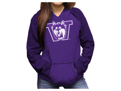 Washington Huskies Retro Brand NCAA Women's Pullover Notch Hooded Sweatshirt