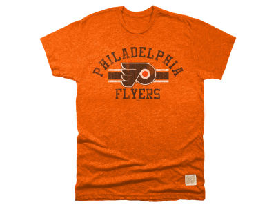 Philadelphia Flyers Retro Brand NHL Men's Stripe Mock Twist T-Shirt