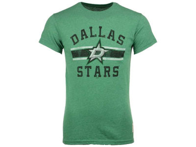 Dallas Stars Retro Brand NHL Men's Stripe Mock Twist T-Shirt