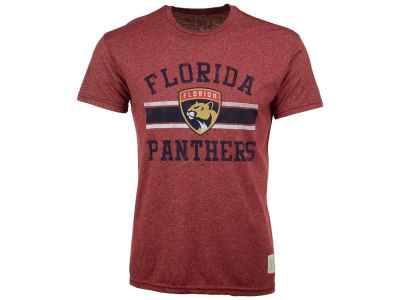 Florida Panthers Retro Brand NHL Men's Stripe Mock Twist T-Shirt