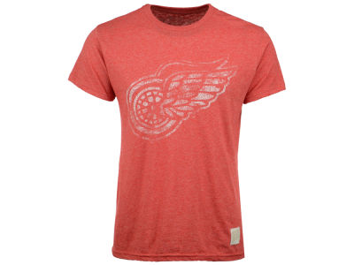 Detroit Red Wings Retro Brand NHL Men's Stripe Mock Twist T-Shirt