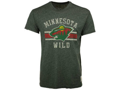 Minnesota Wild Retro Brand NHL Men's Stripe Mock Twist T-Shirt