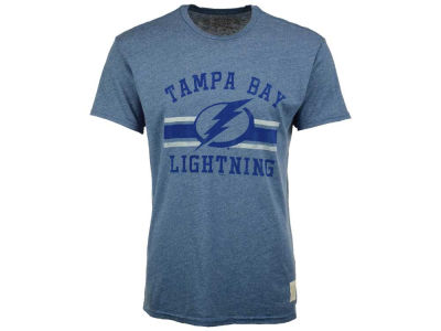Tampa Bay Lightning Retro Brand NHL Men's Stripe Mock Twist T-Shirt
