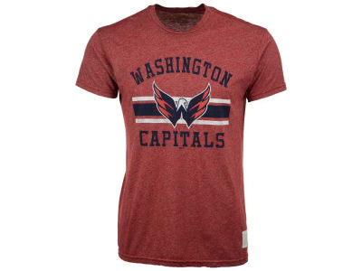 Washington Capitals Retro Brand NHL Men's Stripe Mock Twist T-Shirt