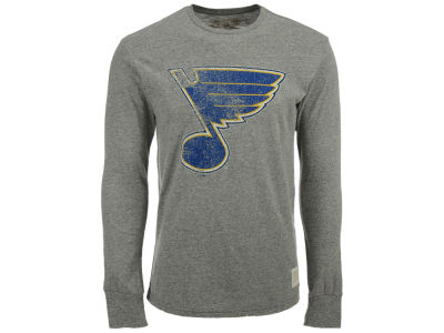 St. Louis Blues Retro Brand NHL Men's Primary Mock Twist Long Sleeve T-Shirt