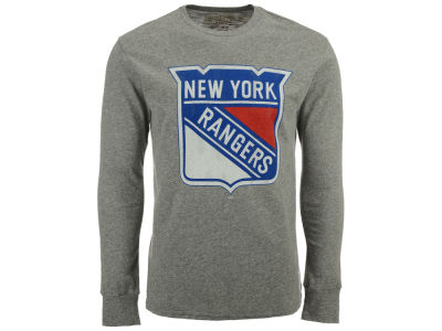 New York Rangers Retro Brand NHL Men's Primary Mock Twist Long Sleeve T-Shirt