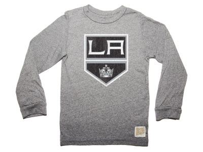Los Angeles Kings Retro Brand NHL Men's Primary Mock Twist Long Sleeve T-Shirt