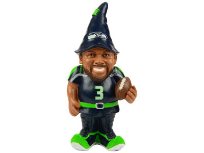 Seattle Seahawks Russell Wilson Resin Player Gnomes