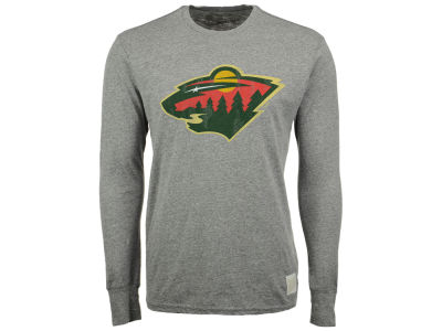 Minnesota Wild Retro Brand NHL Men's Primary Mock Twist Long Sleeve T-Shirt