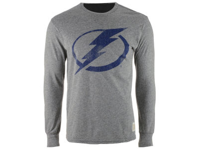 Tampa Bay Lightning Retro Brand NHL Men's Primary Mock Twist Long Sleeve T-Shirt