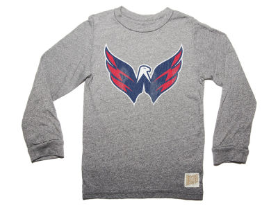 Washington Capitals Retro Brand NHL Men's Primary Mock Twist Long Sleeve T-Shirt
