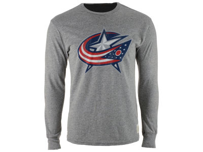 Columbus Blue Jackets Retro Brand NHL Men's Primary Mock Twist Long Sleeve T-Shirt