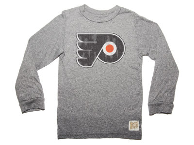 Philadelphia Flyers Retro Brand NHL Men's Primary Mock Twist Long Sleeve T-Shirt